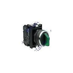 Переключатель с подсветкой светодиод 2-0-1 с фиксацией зеленый (2НО)