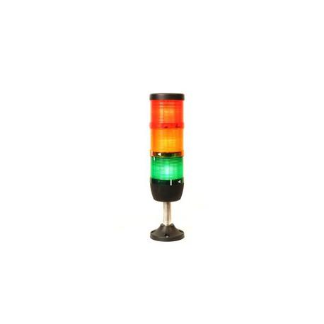 IK73L024XM01 Сигнальная колонна 70 мм. Красная, желтая, зеленая 24 вольта, светодиод LED