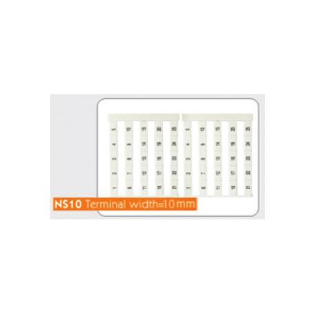 Маркировочные лейблы NS10 (Sheet/25 Pcs)