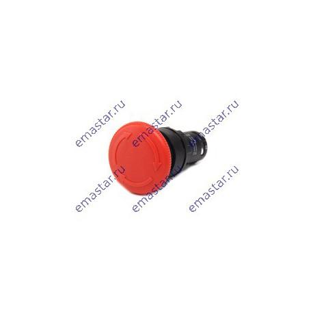 EMAS - Кнопка нажимная моноблочная (1НЗ) диаметр 40 мм. Красн грибок