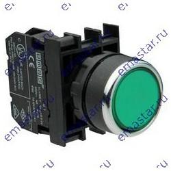 Кнопка с подсветкой-светодиод зеленая B2Y2DY