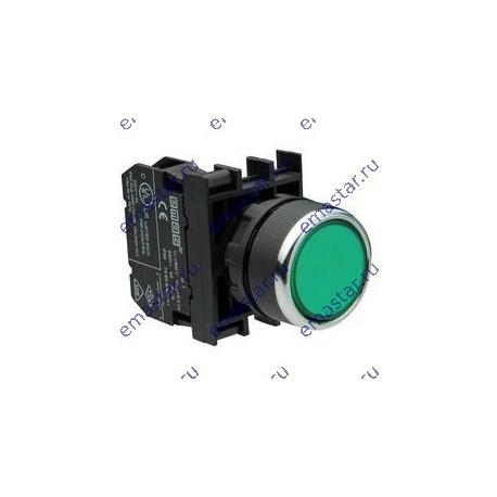 EMAS - Кнопка с подсветкой-светодиод зеленая B2Y2DY
