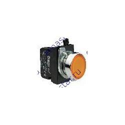 Кнопка с подсветкой-светодиод желтая CM182DS (1НО+1НЗ)