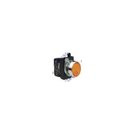 EMAS - Кнопка с подсветкой-светодиод желтая CM182DS (1НО+1НЗ)