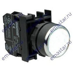 EMAS - Кнопка с подсветкой неон белая B131DB