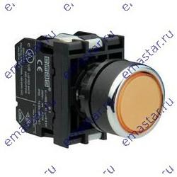 EMAS - Кнопка с подсветкой неон желтая B130DS