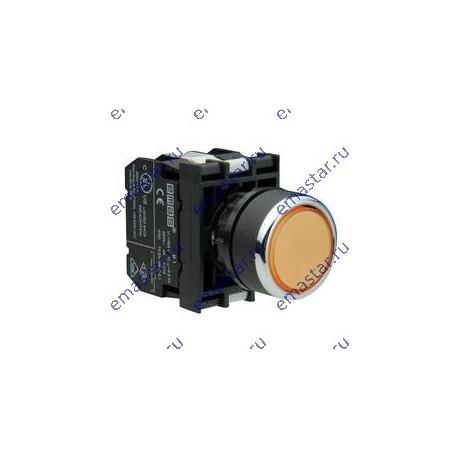 EMAS - Кнопка с подсветкой неон желтая B132DS