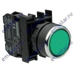 EMAS - Кнопка с подсветкой неон зеленая B131DY