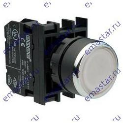 EMAS - Кнопка с подсветкой-светодиод белая B252DB