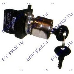 EMAS - Кнопка с ключом 0-1, ключ вынимается в положении 0 и 1 (1НО+1НЗ) (CM)
