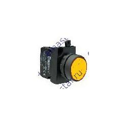 Кнопка нажимная круглая желтая CP102DS (1НО+1НЗ)