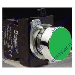 Кнопка нажимная круглая зеленая CM100DY (1НО)