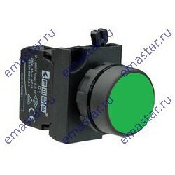 Кнопка нажимная круглая зеленая CP100DY (1НО)