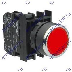 Кнопка нажимная круглая красная B100DК