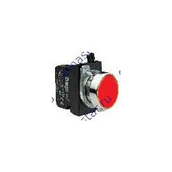 Кнопка нажимная круглая красная CM102DК (1НО+1НЗ)