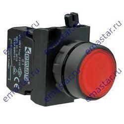 EMAS - Кнопка нажимная круглая красная CP102DК (1НО+1НЗ)