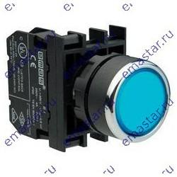EMAS - Кнопка нажимная круглая синяя B202DM