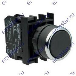 EMAS - Кнопка нажимная круглая черная B200DH