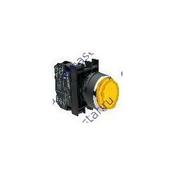 EMAS - Кнопка выступающая желтая B202HS (2НЗ)