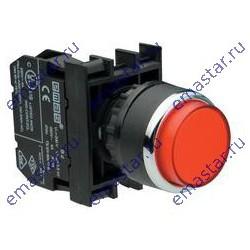 EMAS - Кнопка выступающая красная B202HК (2НЗ)