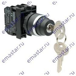 Кнопка с ключом 0-1, ключ вынимается в положениях 0 и 1 (1НО)