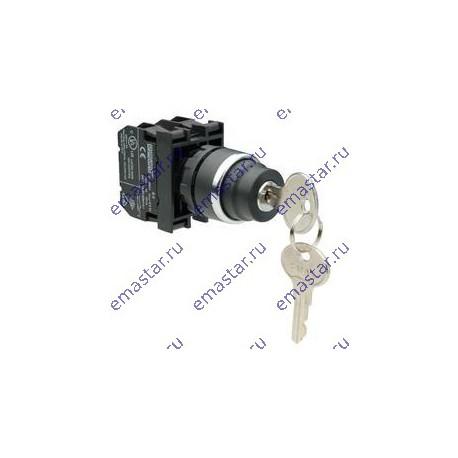 EMAS - Кнопка с ключом 2-0-1, ключ вынимается во всех положениях (1НО+1НЗ)