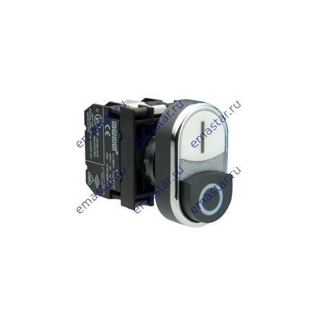 EMAS ► Кнопка сдвоенная черно-белая выступающая (1НО+1НЗ) – Артикул: B102K21HB