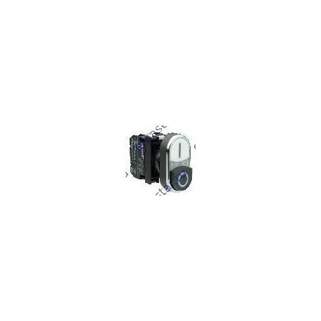 EMAS - Кнопка сдвоенная черно-белая с подсветкой неон (1НО+1НЗ)