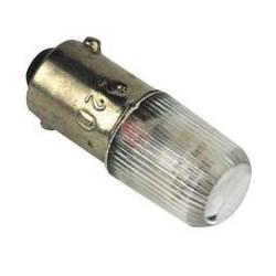 Лампа неоновая Ва9S 220B зеленая (штыковая)