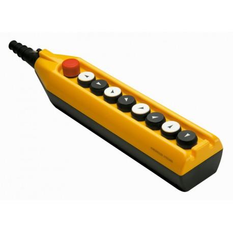 EMAS - Пульт управления девятикнопочный (8 кнопок + аварийная кнопка stop) односкоростной - Артикул: PV9E30B2222