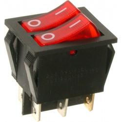EMAS ► Переключатель красный с подсветкой ON-OFF (16A/250VAC) 4P – Артикул: A12K