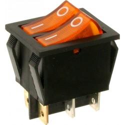 EMAS ► Переключатель желтый с подсветкой ON-OFF (16A/250VAC) 4P – Артикул: A12S