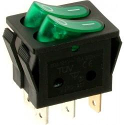 EMAS ► Переключатель зеленый с подсветкой ON-OFF (16A/250VAC) 4P – Артикул: A12Y