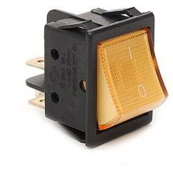 EMAS ► Переключатель желтый с подсветкой ON-OFF (16A/250VAC) 4P – Артикул: A14S