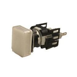 EMAS ► Сигнальная арматура Ø16мм прямоугольная со светодиодной подсветкой белая 24V AC/DC – Артикул: D050DXB