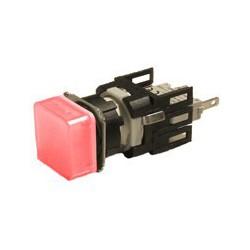 EMAS ► Сигнальная арматура Ø16мм квадратная с красной светодиодной подсветкой – Артикул: D060KXK