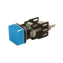 EMAS ► Арматура сигнальная Ø16мм квадратная с синей светодиодной подсветкой – Артикул: D070KXM
