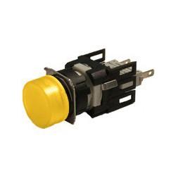 EMAS ► Арматура сигнальная Ø16мм круглая с желтой светодиодной подсветкой – Артикул: D080YXS