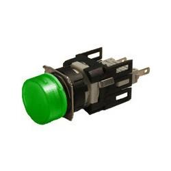 EMAS ► Арматура сигнальная Ø16мм круглая с зеленой светодиодной подсветкой – Артикул: D090YXY
