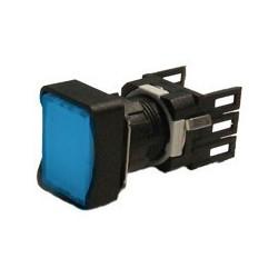 EMAS ► Кнопка нажимная прямоугольная Ø16мм синяя (1НО) – Артикул: D100DDM