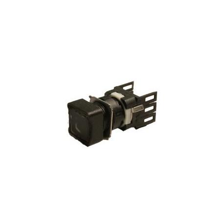 EMAS ► Кнопка нажимная квадратная Ø16мм чёрная (1НО) – Артикул: D100KDH