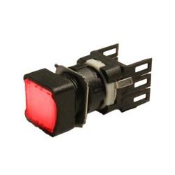 EMAS ► Кнопка квадратная без фиксации Ø16мм красная – Артикул: D100KDK