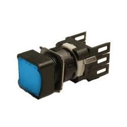 EMAS ► Кнопка нажимная квадратная Ø16мм синяя (1НО) – Артикул: D100KDM
