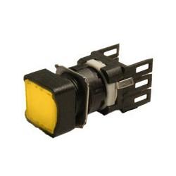 Кнопка нажимная квадратная желтая