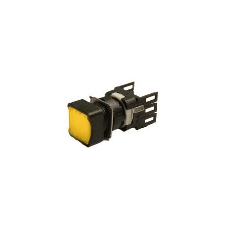 EMAS ► Кнопка нажимная квадратная Ø16мм желтая (1НО) – Артикул: D100KDS