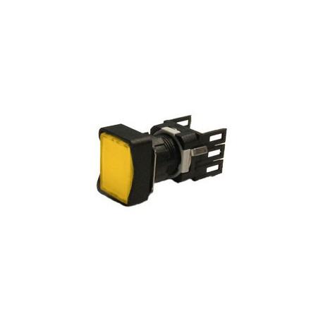 EMAS ► Кнопка прямоугольная без фиксации желтая (2 НО) – Артикул: D101DDS