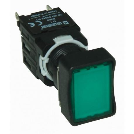 EMAS ► Кнопка прямоугольная без фиксации зеленая (2 НО) – Артикул: D101DDY