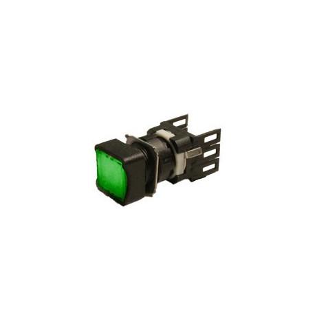 EMAS ► Кнопка квадратная без фиксации зеленая (2 НО) – Артикул: D101KDY