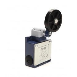 EMAS ► Концевой выключатель в усиленном корпусе с резиновым роликом Ø50мм (1НО+1НЗ) – Артикул: L53K13MEL121