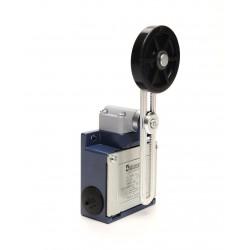 EMAS ► Концевой выключатель с металлической консолью и резиновым роликом Ø50мм на рычаге (1НО+1НЗ) – Артикул: L53K13MEL123